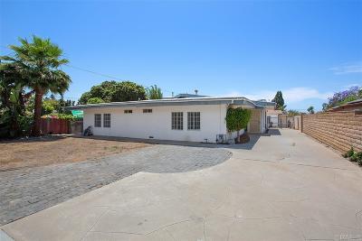 Oceanside Single Family Home For Sale: 1933 Moreno St