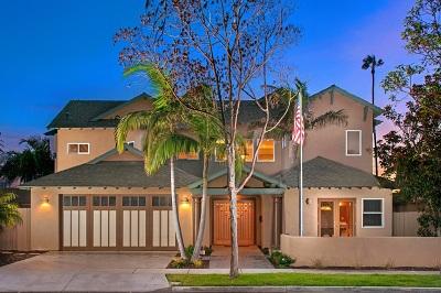 Coronado Single Family Home For Sale: 1109 Pine Street