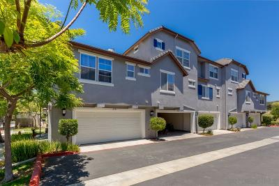 Chula Vista Townhouse For Sale: 2721 Wild Cherry Ct