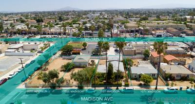 Chula Vista Single Family Home For Sale: 1055 Madison Ave