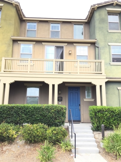 Chula Vista Townhouse For Sale: 1812 Olive Green St #6