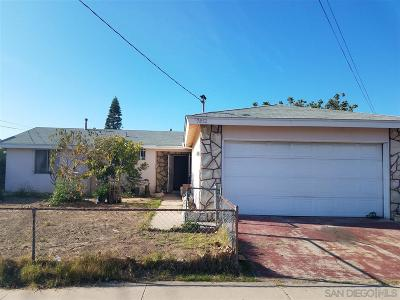 San Diego Single Family Home Back On Market: 7852 Gribble Street