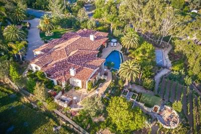 Rancho Santa Fe Single Family Home For Sale: 16566 Zumaque