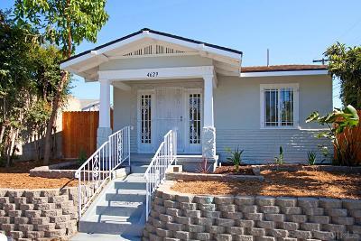 San Diego Single Family Home For Sale: 4629 Polk Avenue