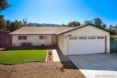 Escondido Single Family Home For Sale: 3172 Laurashawn Ln