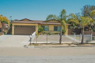 Oceanside Single Family Home For Sale: 4026 Lonnie St