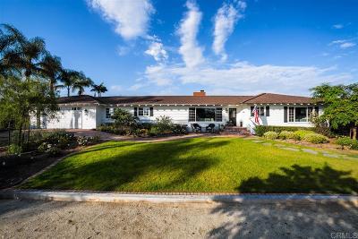 Oceanside Single Family Home For Sale: 1606 Hunsaker St