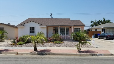 San Diego Single Family Home For Sale: 6976 Carthage