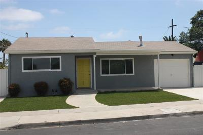 San Diego CA Single Family Home For Sale: $745,000