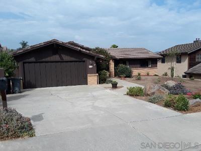 Escondido Single Family Home For Sale: 1350 Rimrock Dr