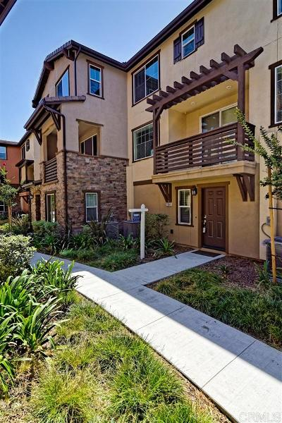 Chula Vista Townhouse For Sale: 2750 Sparta Rd #3