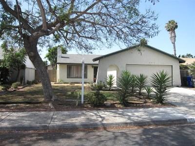 Oceanside Single Family Home For Sale: 3513 Orr St.