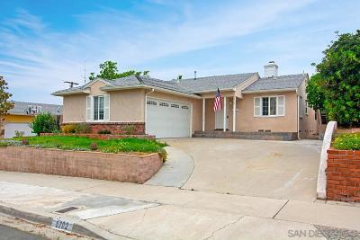San Diego Single Family Home For Sale: 6702 Carthage St