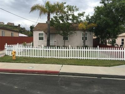 La Mesa Multi Family 2-4 For Sale: 3707 Harris