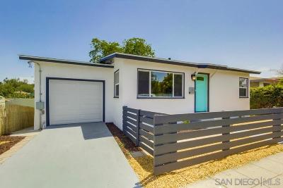 San Diego Single Family Home For Sale: 4778 Lantana Dr