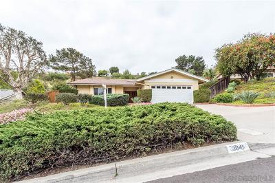 San Diego Single Family Home For Sale: 3041 Pennant Way