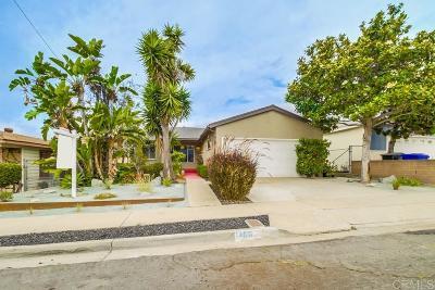 San Diego Single Family Home For Sale: 1460 Mary Lou Street