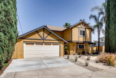 La Mesa Single Family Home For Sale: 3956 Nereis Drive