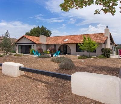 Fallbrook Single Family Home For Sale: 1349 Hillside Dr