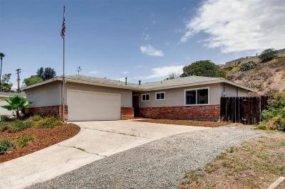 La Mesa Single Family Home For Sale: 5675 Jackson Dr