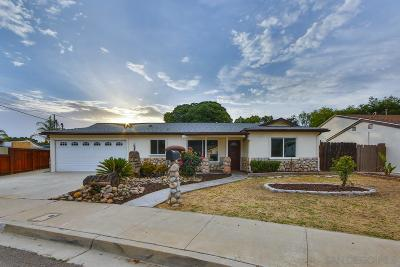Santee Single Family Home For Sale: 9027 Willowgrove Circle