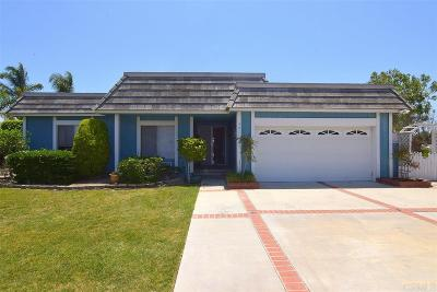 Oceanside Single Family Home For Sale: 3071 Skyline Dr