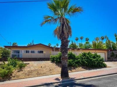 La Mesa Single Family Home For Sale: 9365 Monona Dr