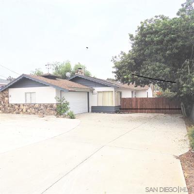 Oceanside CA Single Family Home For Sale: $545,000