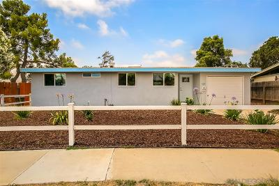 San Diego Single Family Home For Sale: 4614 Chickasaw Ct