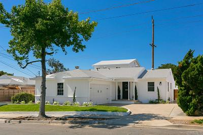 San Diego Single Family Home For Sale: 4924 Vandever Avenue