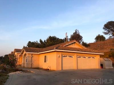Fallbrook Single Family Home For Sale: 2592 Green Canyon Rd