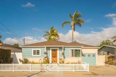 Ocean Beach Single Family Home For Sale: 4510 Greene St