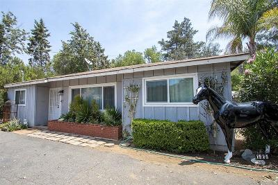 Fallbrook Single Family Home For Sale: 1406 Via Monserate