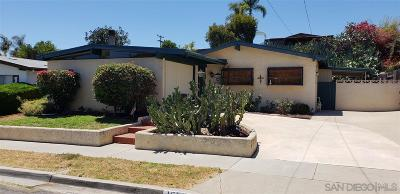 San Diego CA Single Family Home For Sale: $542,000