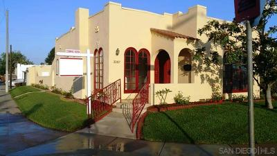 San Diego Single Family Home For Sale: 3387 Bancroft St.