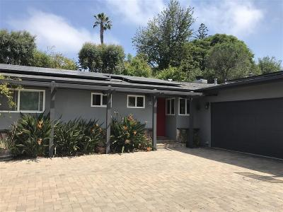 Leucadia Single Family Home For Sale: 1559 Caudor Street