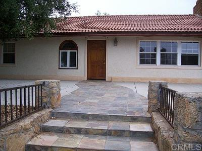 Fallbrook Single Family Home For Sale: 1702 Rice Canyon