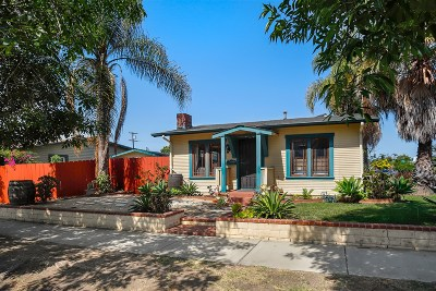 Norma Heights, Normal Heights Single Family Home For Sale: 4396 Wilson Ave