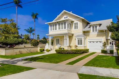 Coronado Single Family Home For Sale: 1405 10th Street