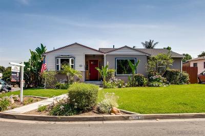 La Mesa Single Family Home For Sale: 8931 Jefferson Ave