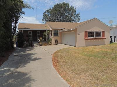 San Diego Single Family Home For Sale: 2304 54th St