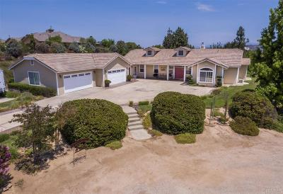 San Diego County Single Family Home For Sale: 17440 Highlander Road
