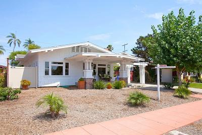 San Diego Single Family Home For Sale: 2431 Capitan Ave