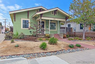 San Diego Single Family Home For Sale: 2128 Madison Ave.