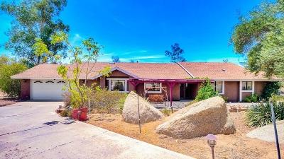 Ramona CA Single Family Home For Sale: $585,000