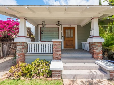 San Diego Single Family Home For Sale: 3038 Redwood Street