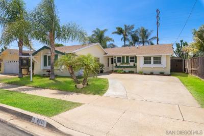 Clairemont, Clairemont East, Clairemont Mesa, Clairemont Mesa East Single Family Home For Sale: 4449 Conrad Ave