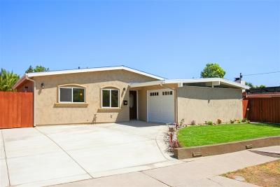 San Diego Single Family Home For Sale: 4531 Paola Way