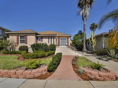 San Diego Single Family Home For Sale: 4551 Euclid Ave.