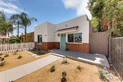 San Diego Single Family Home For Sale: 4112 39th